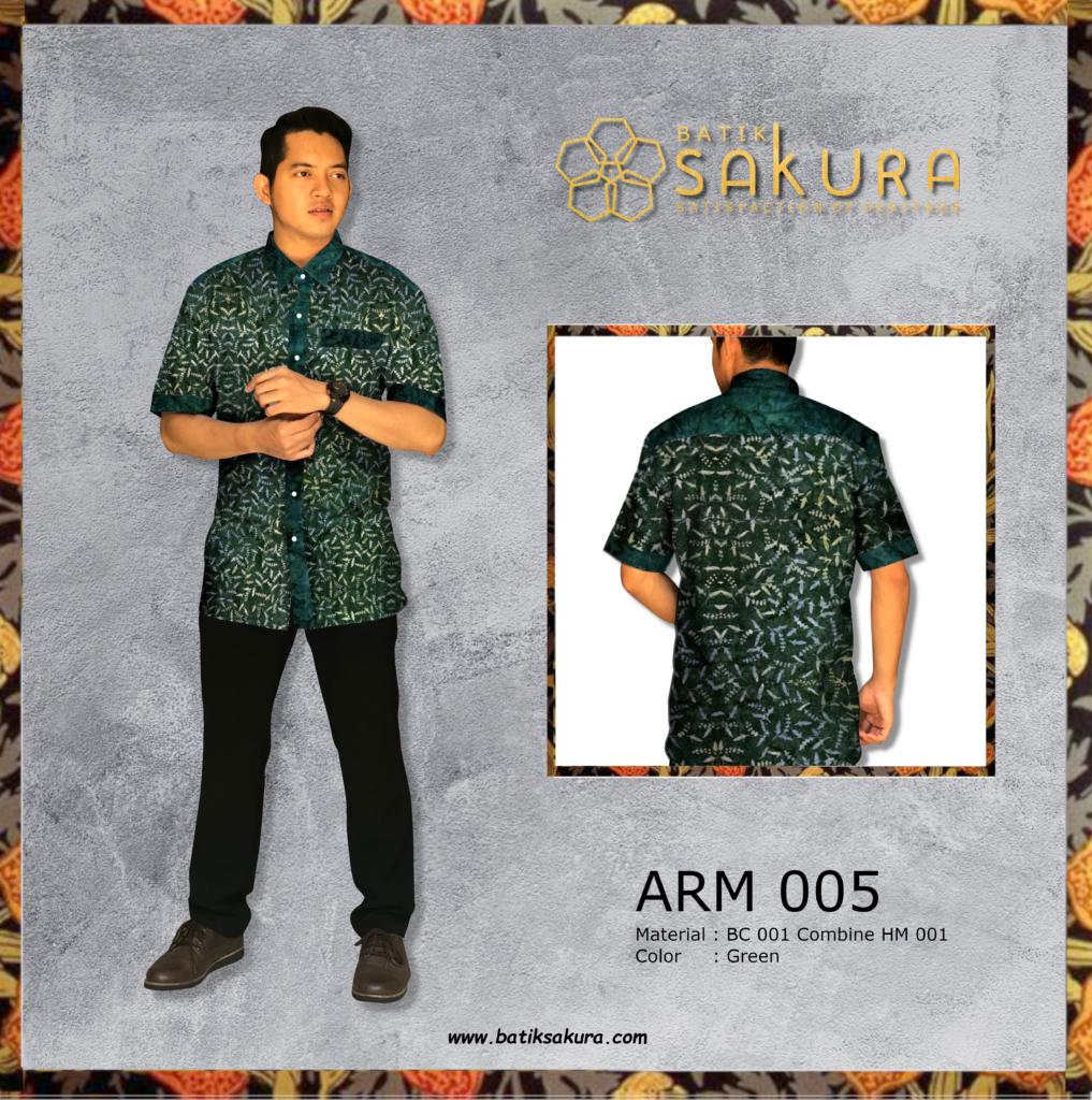 Hem cowok batik premium by sakuratex