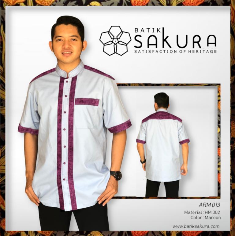 baju koko batik hand made sakuratex