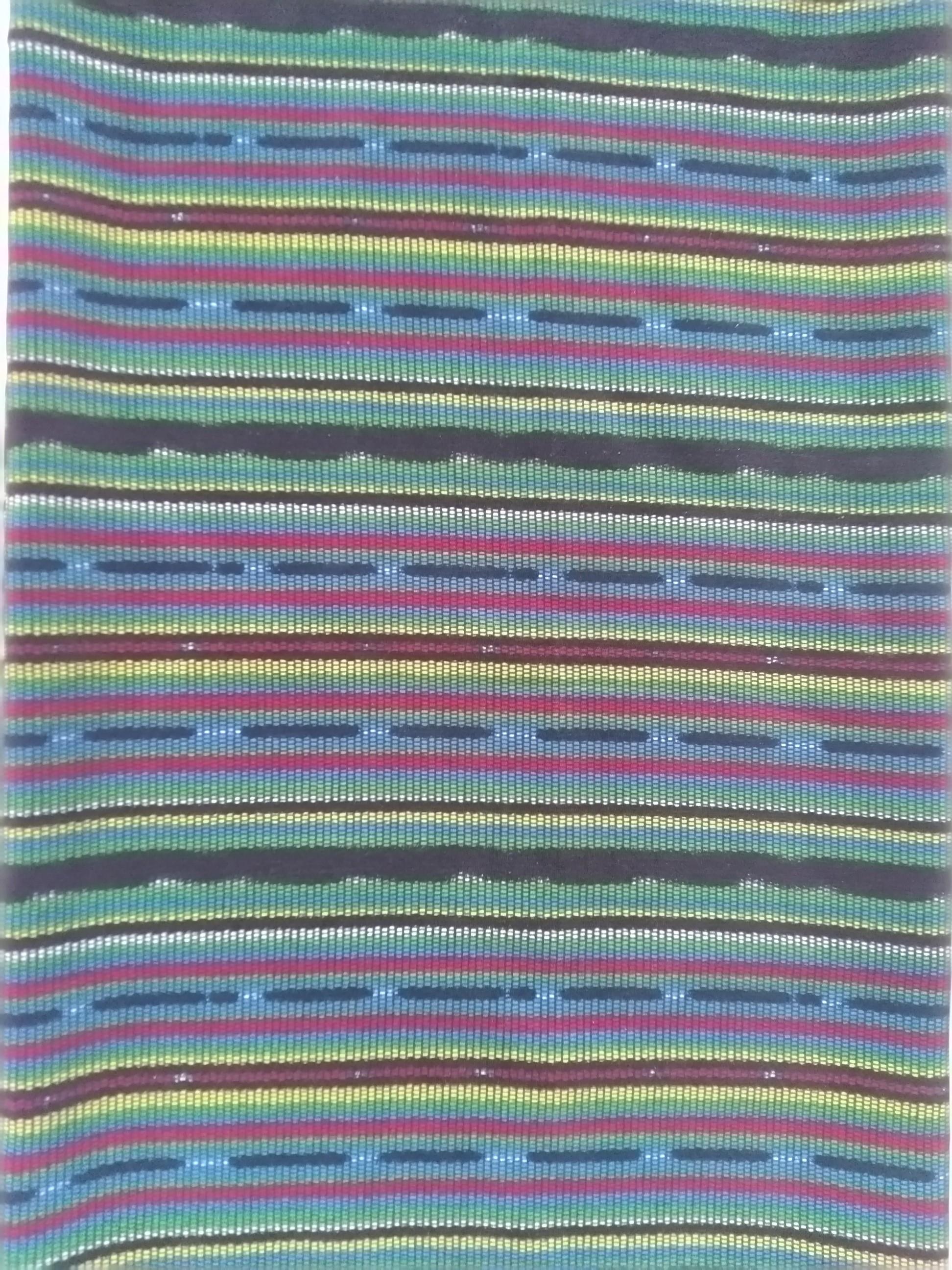 Material kain motif tenun, dengan proses print mesin