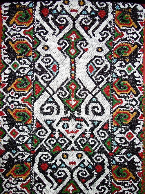 contok kain motif batik kalimantan